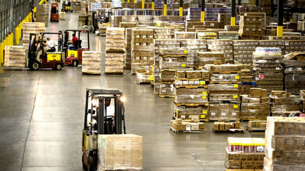 Image of a busy warehouse